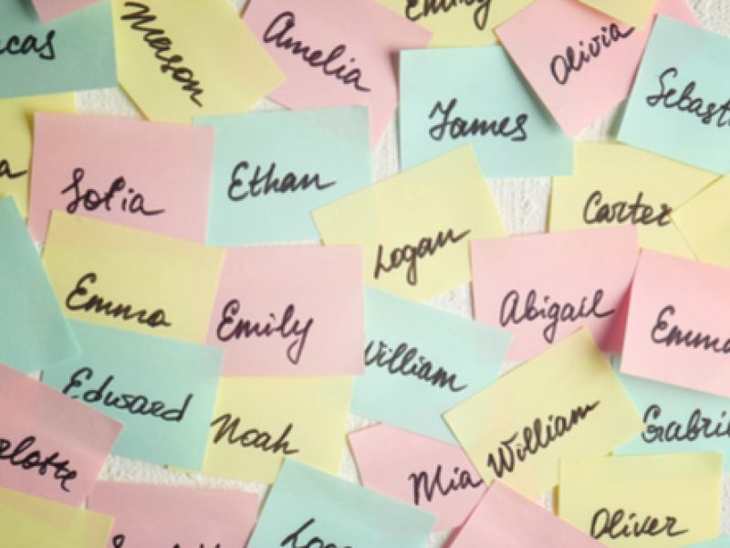 Stikins Name Labels Presents...Your Most Popular Baby Names For 2018!