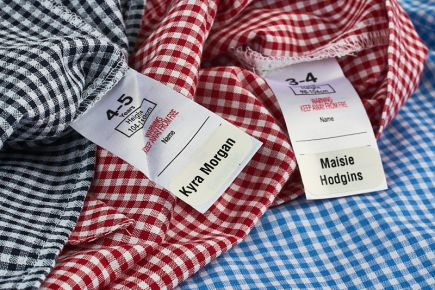School Uniform Labels - Apply Stikins Onto Wash-Care Label