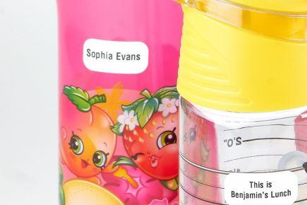 Stikins - Water Bottle Labels - close up